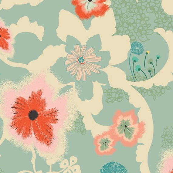 Dreamscape Moon Large Teal Floral