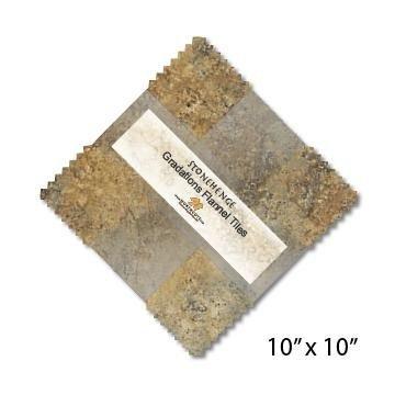 Stonehenge Flannel Tiles 10 Squares Earth Tones