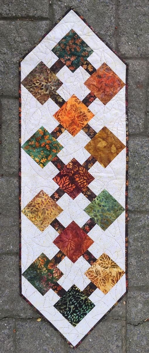 Sun Kissed Fall Table Runner Kit (Backing & Book Included)