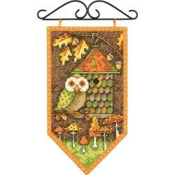 Dimensions/Debbie Mumm Counted Cross Stitch Kit 5X8 Fall Banner (14 Count)