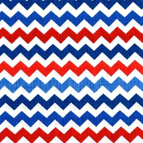Red, White, & Blue Zig Zag