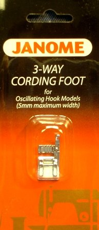 Janome 3-way cording foot for oscillating hook models