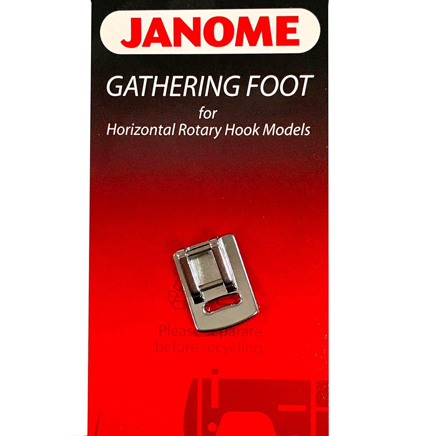 Janome Gathering Foot top load
