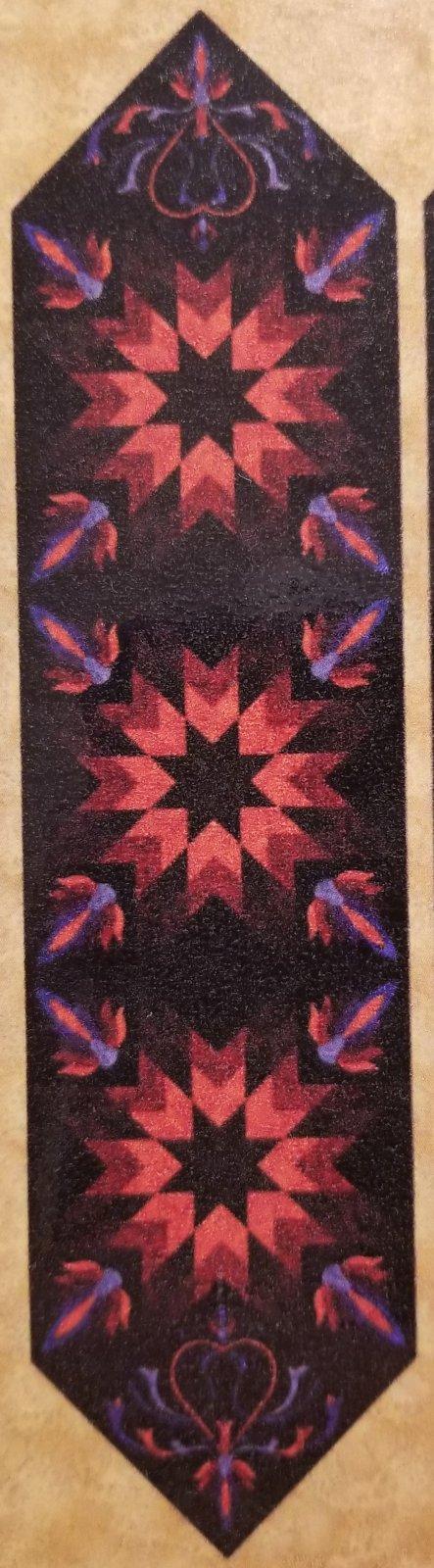 Lotus Table Runner (Henna) - Pattern
