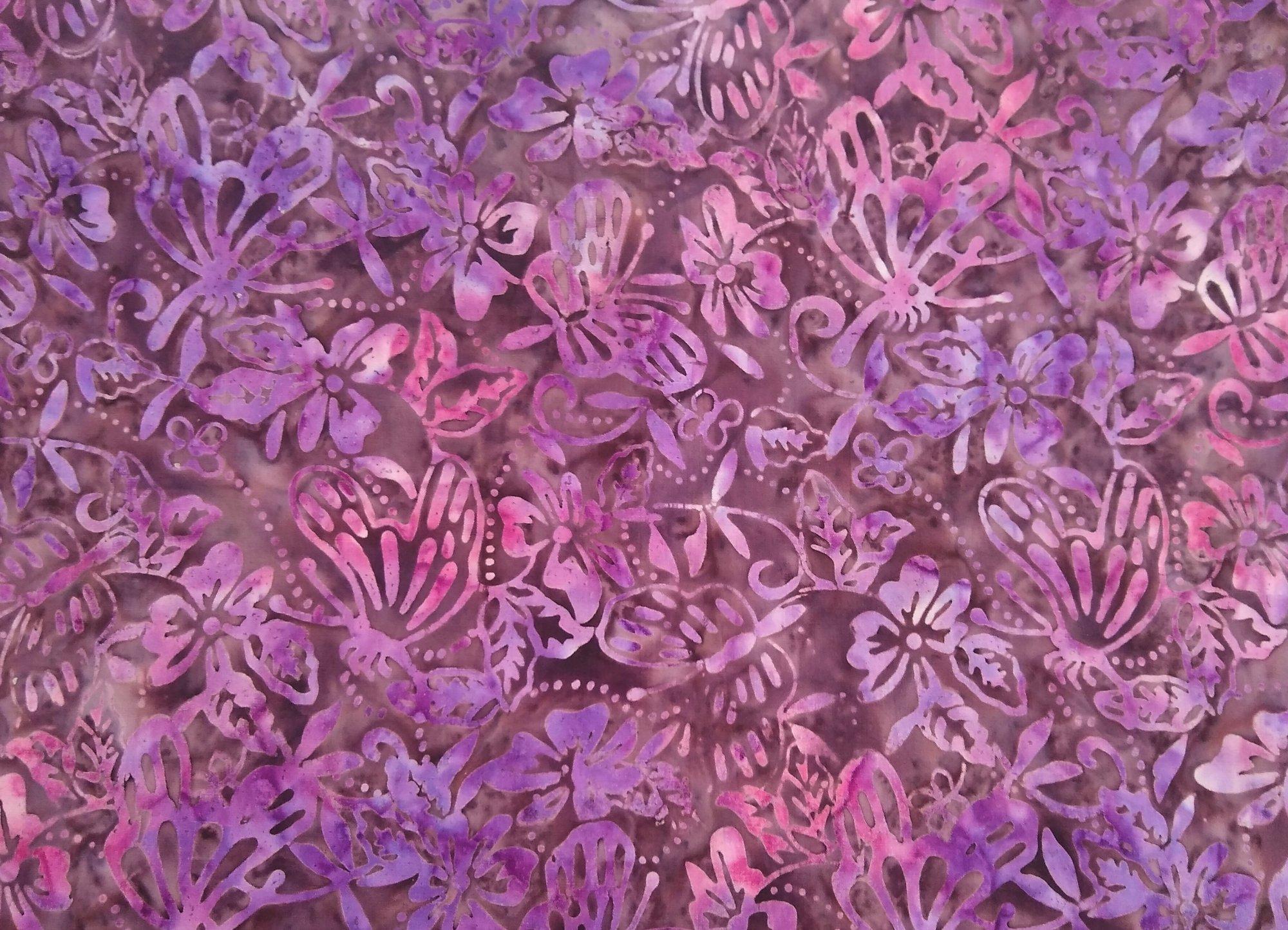 Komo Batik - Purple / Pink Butterflies