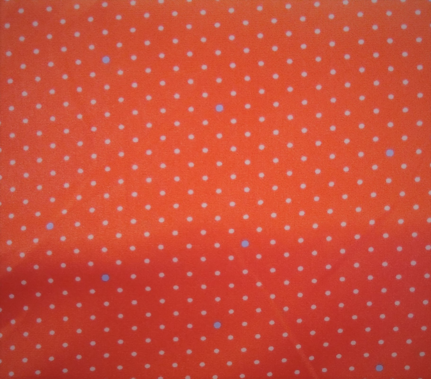 Pin Dot Poly Satin - Coral - Michael Miller