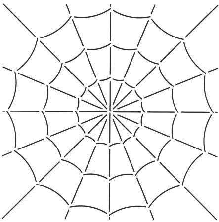 Quilt Stencil Spider Web 10.5