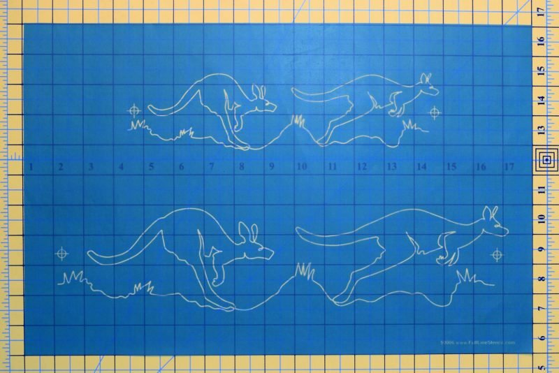 Quilt Stencil - Kangaroos On The Run