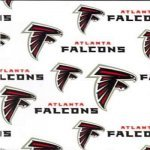 NFL - Atlanta Falcons Logos on White - Extra Wide 58 (6209 W)