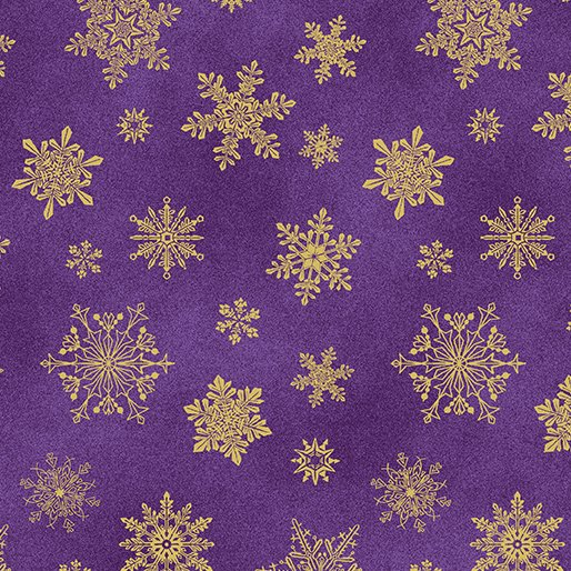 Playful Flakes Purple - Cat-i-tude Christmas by Ann Lauer of Grizzly Gulch Gallery