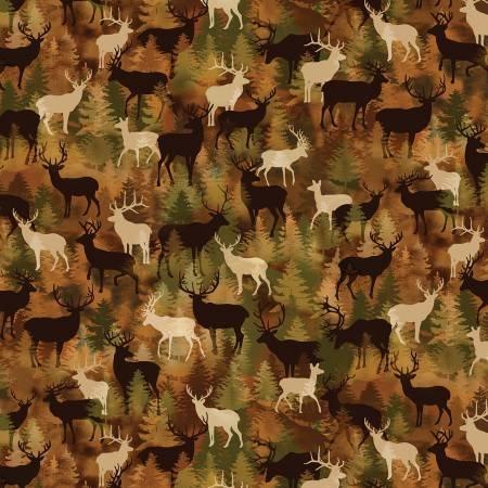 Lodge Life by Greta Lynn for Kanvas Studios - Russet Camo Deer-C8974-88