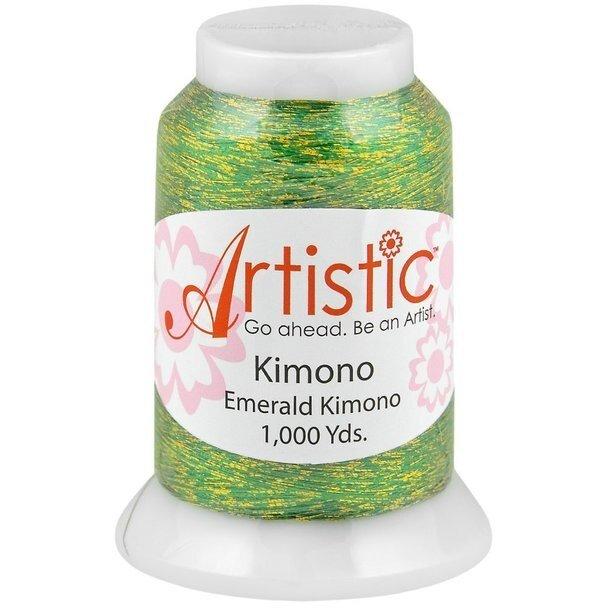Artistic Emerald Kimono Metallic Thread 1000 Yards