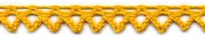 3/8 Cluny Lace - Yellow/ Gold