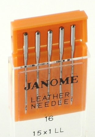 Janome Leather Needles sz 16  5 pak