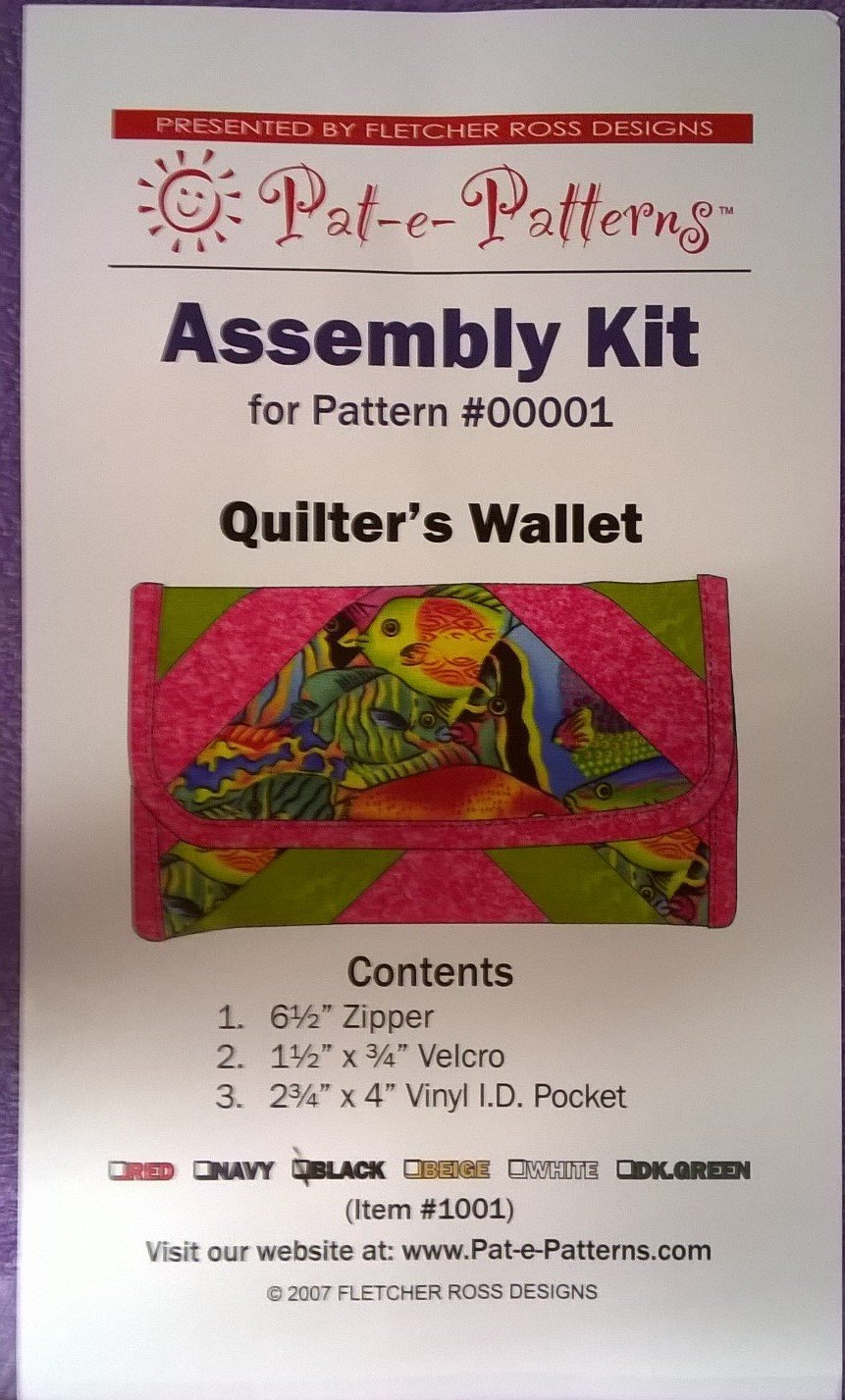 Quilter's Wallet Assembly kit for Pattern #00001