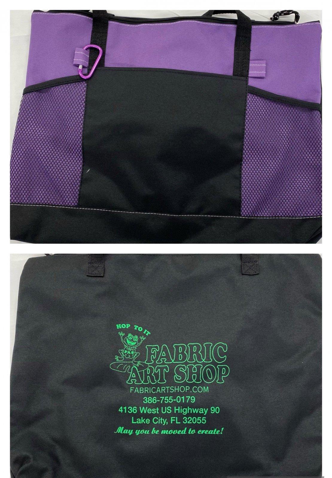 Fabric Art Shop Premium Zippered Tote Bag
