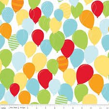 Balloons on White by Riley Blake Designs