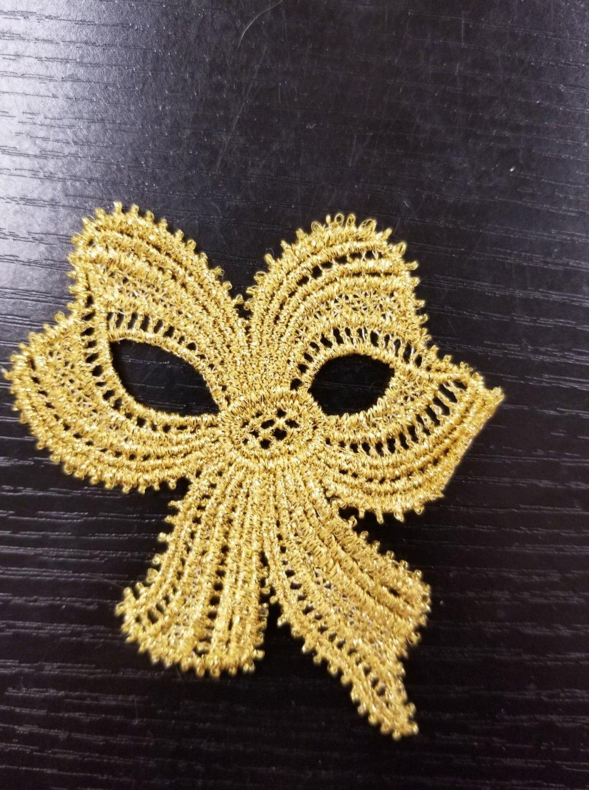 Metallic Gold Bow Applique