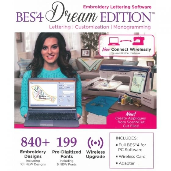 BES4 Dream Edition Embroidery Lettering Software