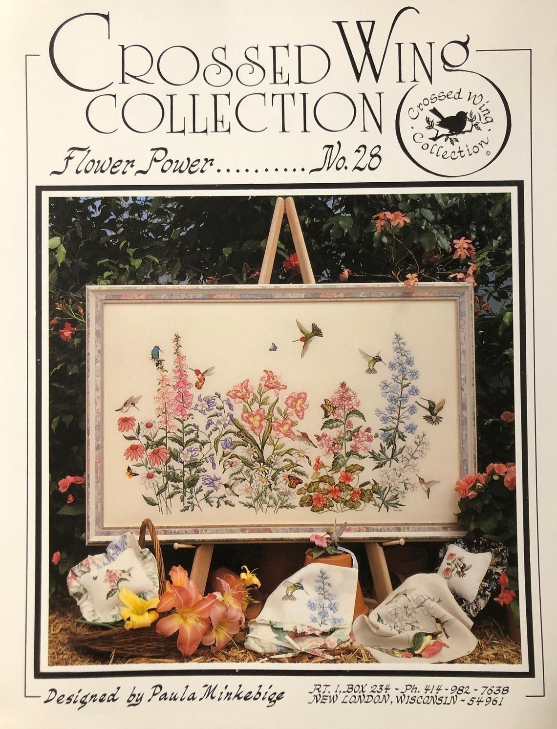 Crossed Wings Collection - Flower Power No. 28 by Paula Minkebige
