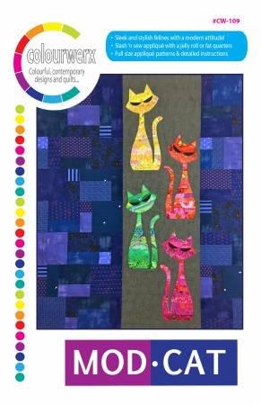 Mod Cat Quilt pattern by Linda & Carl Sullivan / Colourwerx
