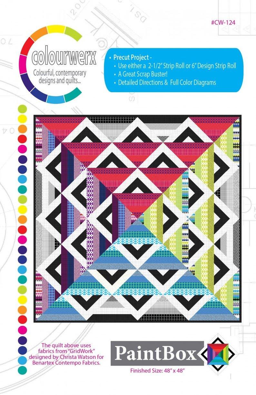 Paint Box Quilt pattern by Christa Watson / Colourwerx