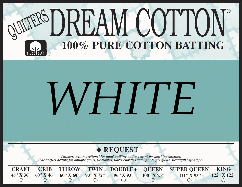 Quilters Dream White Cotton Request Twin Batting
