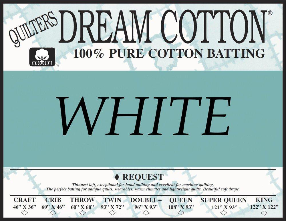 Quilters Dream White Cotton Request Super Queen Batting