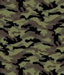 Camouflage - Black Olive by David Textiles
