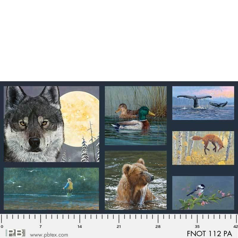 Wolf Panel / Field Notes by Jon Van Zyne (24x 42 Panel)