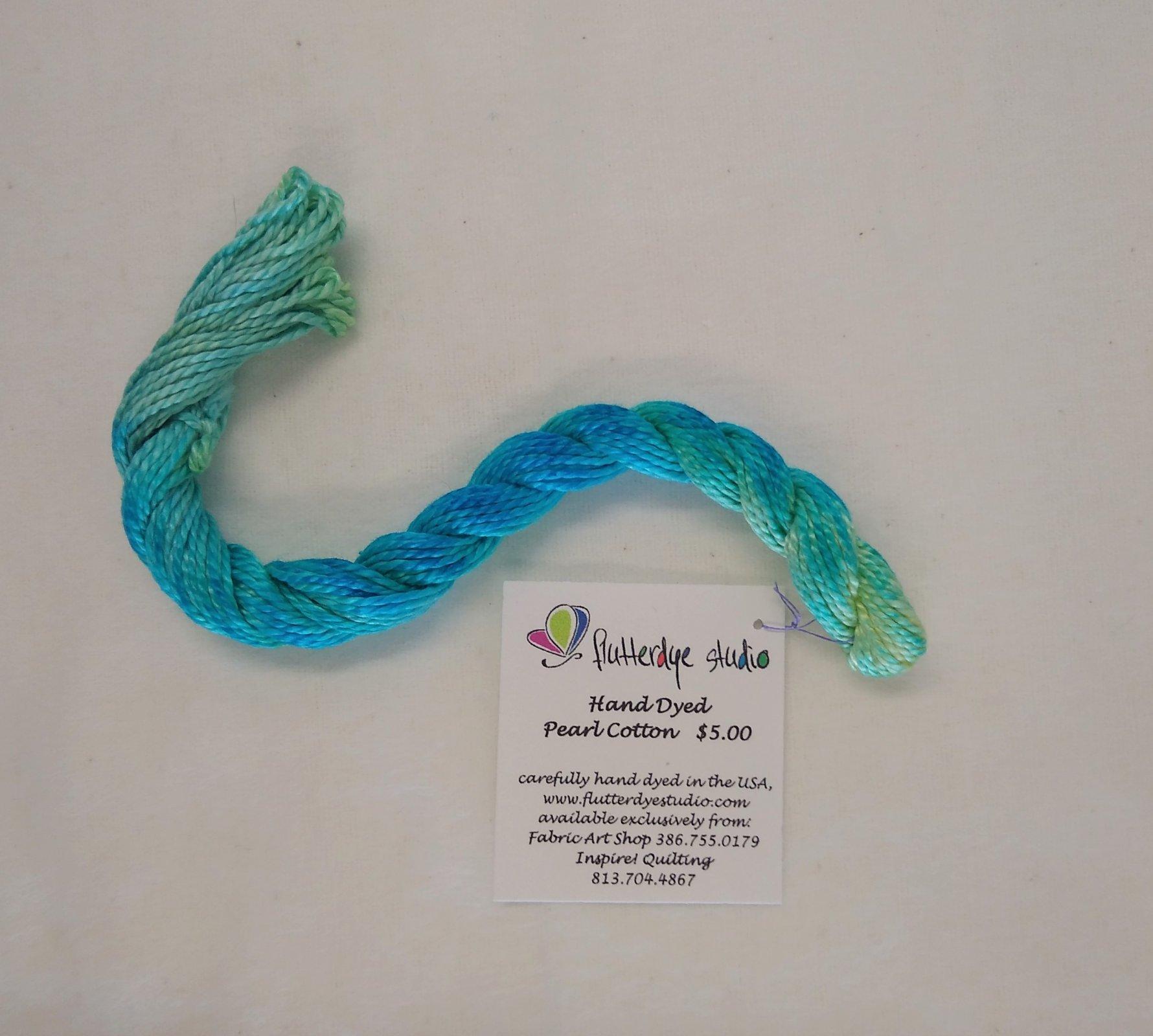 Flutterdye Studio - Hand Dyed Pearl Cotton - 8wt - Varigated - 15 yds/ 13.7 m