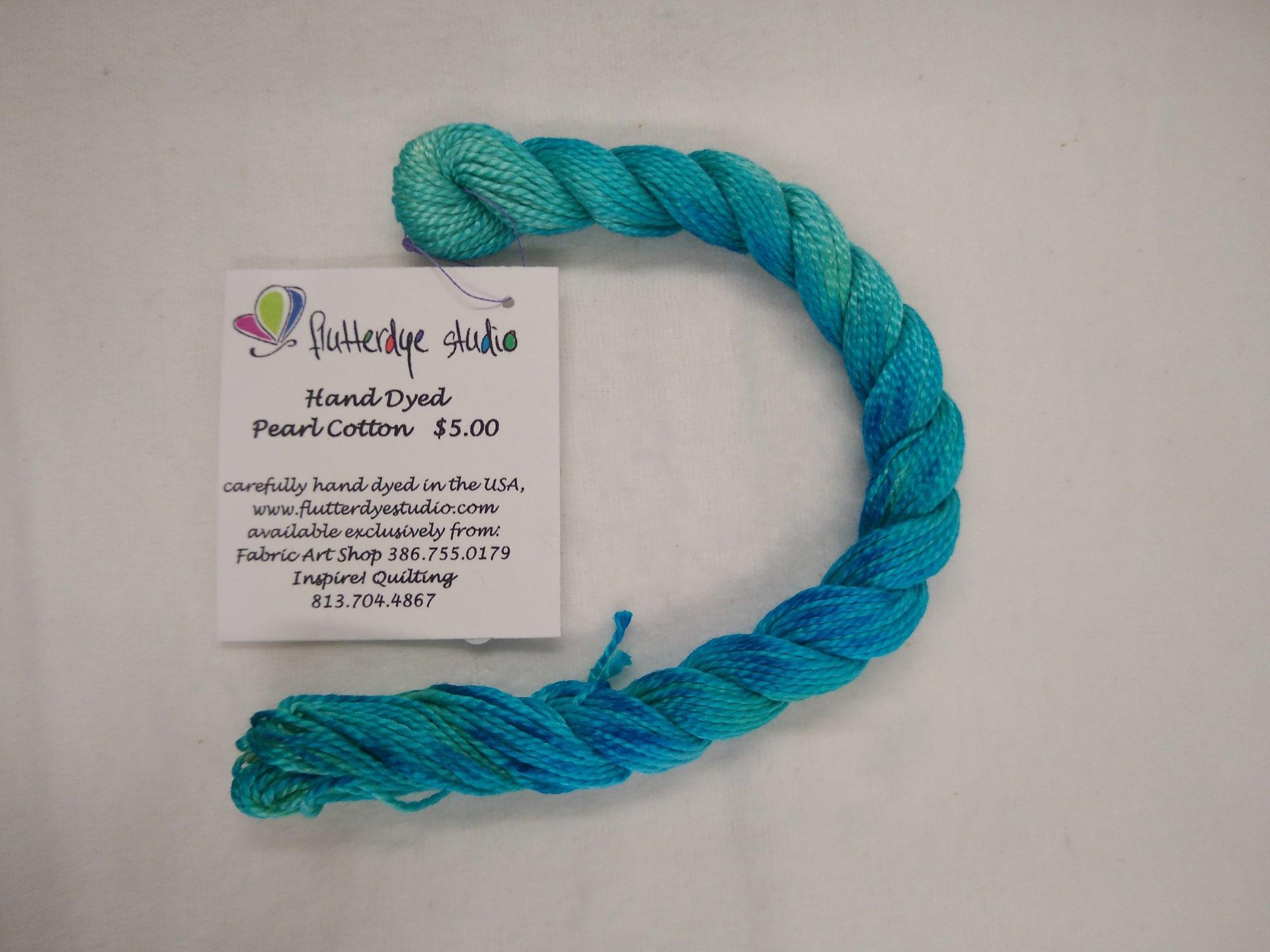 Flutterdye Studio - Hand Dyed Pearl Cotton - 12wt - Varigated - 15 yds/ 13.7 m