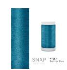 Iris, 600 Yard, poly embroidery thread  1051 Twister Blue