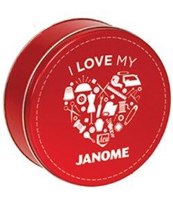 JANOME  Thread Tin with 30 Iris Thread Spools