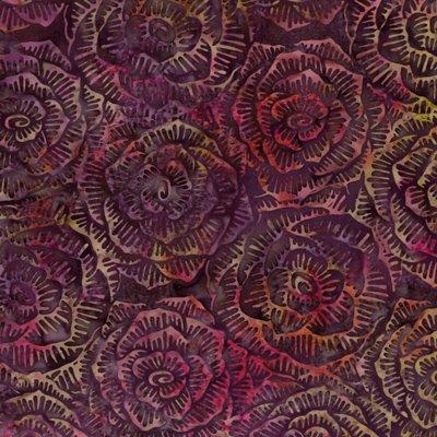 Bali Graphic Floral Batik - L2666-390 - Zinfandel