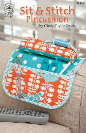 Sit & Stitch Pincushion Couch Armrest Bag Pattern by Cindy Taylor Oates