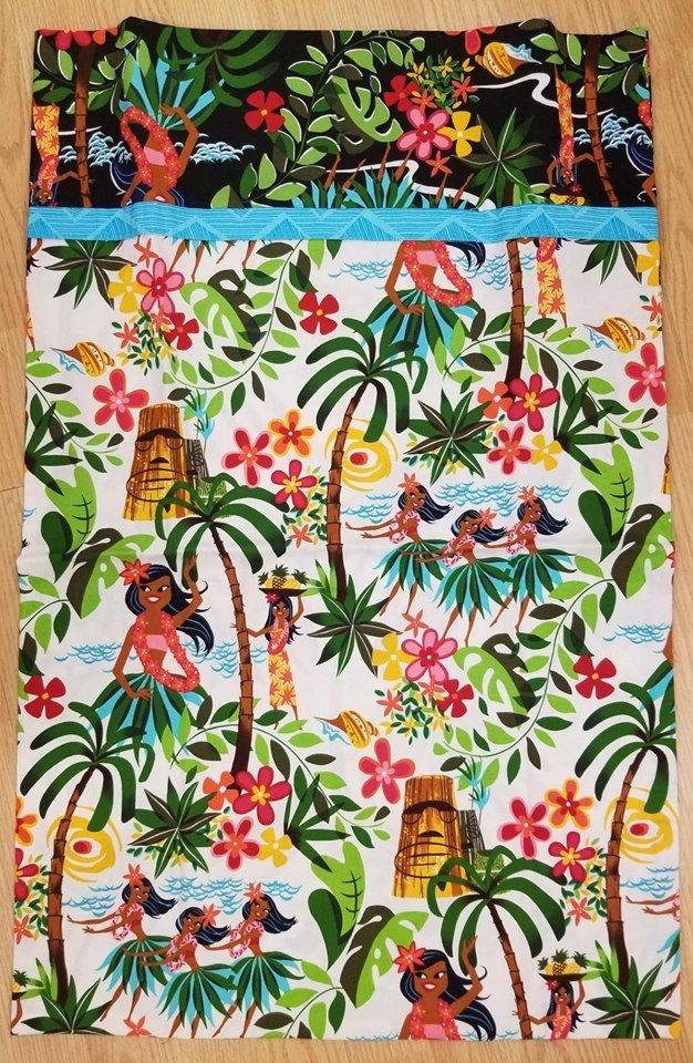Light Hawaiian King Sized Pillow Case