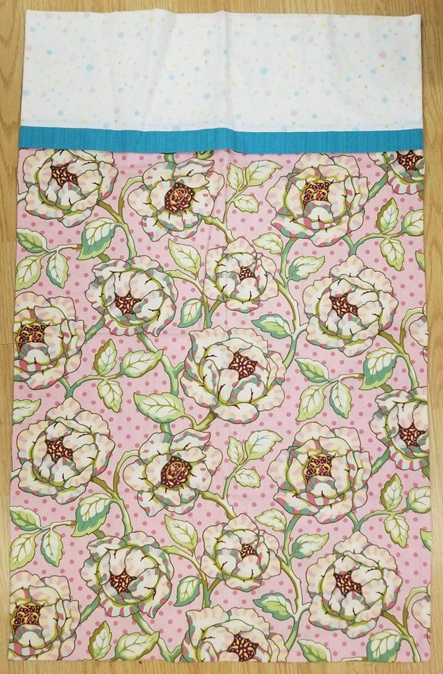 Pink Floral King Size Pillow Case