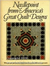 Needlepoint from America's Great Quilt Designs book by Mary Kay Davis and Giammattei / Workman Publishing