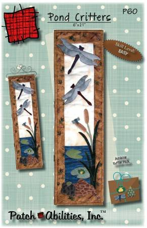 Pond Critters Pattern (6 x 21) by Julie Bohringer / Patch Abilities (P60)