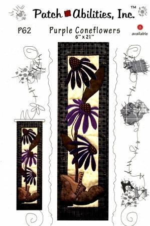 Purple Coneflowers Table Runner/Wall Hanging Pattern by Bohringer, Julie / Patch Abilities