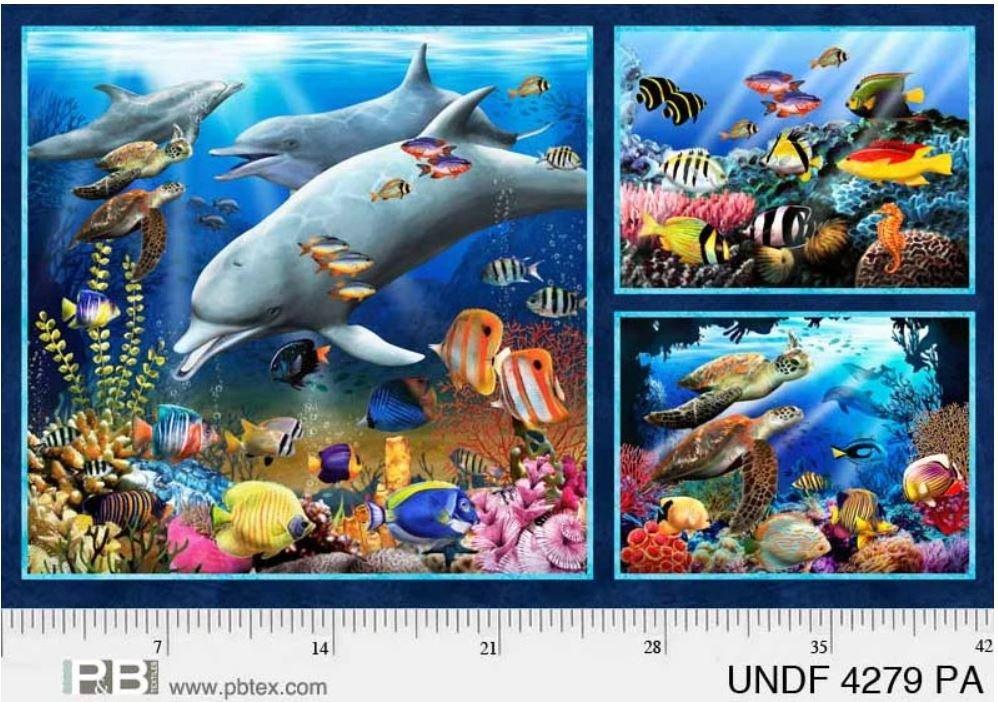 Underwater Fantasy - Reef Life Panel (44 x 26) by Thomas Wood / Porterfield's Fine Art