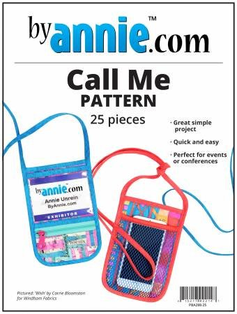 Call Me Pattern for Lanyard Cell Phone Holder