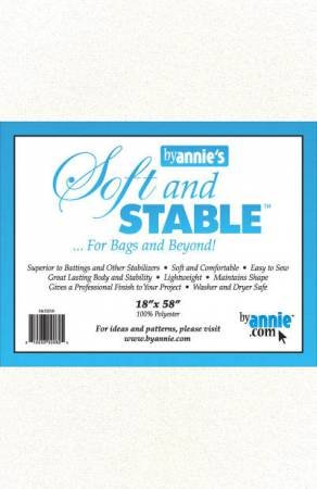 Soft and Stable White 100% Polyester Stabilizer (18in x 58in)