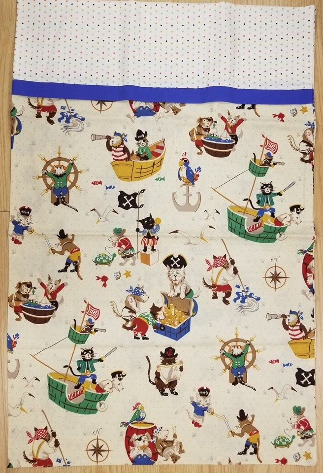 Pirate Cat King Sized Pillow Case