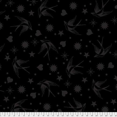 Tula Pink Linework - Fairy Flakes - Ink / Free Spirit Fabrics