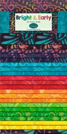 2-1/2in Strips Batiks Bright & Early by Wilmington 40 ct