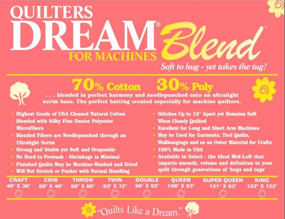 Quilters Dream 70/30 Blend (M Select Mid-Loft) Batting
