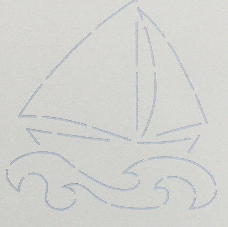 Stencil Sailboat 5.25