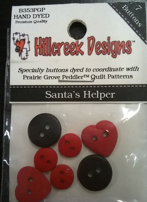 Santa's Helper Buttons